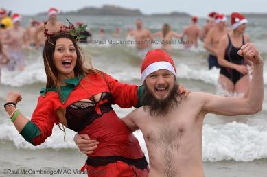 ©Paul McCambridge/MAC Visual Media Santa Splash 2017, Portrush.