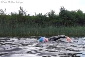 MAC Visual Media - 5th August 2017 Picture by Paul McCambridge/MAC Visual Media Swimmer Brendan McKeogh making his way around the scenic Devenish Island, as part of the Couch to 5k Swim Challenge.