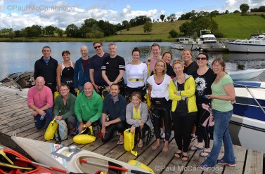 MAC Visual Media - 5th August 2017 Picture by Paul McCambridge/MAC Visual Media Couch to 5k Swim Challenge swimmers before their 5k swim on Lough Erne.