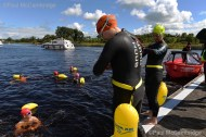 MAC Visual Media - 5th August 2017 Picture by Paul McCambridge/MAC Visual Media Swimmers preparing before the 5k swim into Enniskillen as part of the Couch to 5k Swim Challenge.