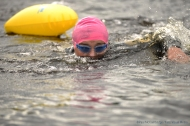 MAC Visual Media - 5th August 2017 Picture by Paul McCambridge/MAC Visual Media Una McKeogh spotting as she swims in the Couch to 5k Swim Challenge, organised by the ILDSA.