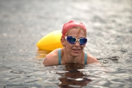 MAC Visual Media - 5th August 2017 Picture by Paul McCambridge/MAC Visual Media Skins swimmer Arlene Robertson finishes the Couch to 5k Swim Challenge, organised by the ILDSA.